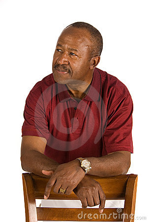 Elderly African American man.