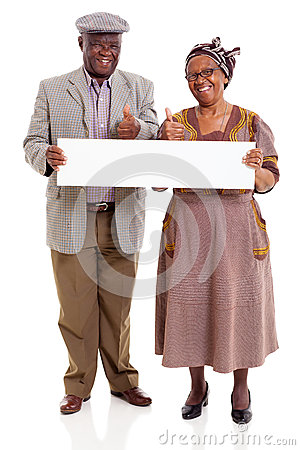 Elderly african couple banner
