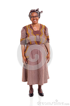 Elderly african lady