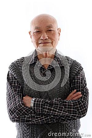 Free Elderly Asian Man Royalty Free Stock Image - 14731226