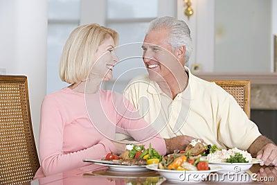 Elderly Couple Enjoying Healthy meal