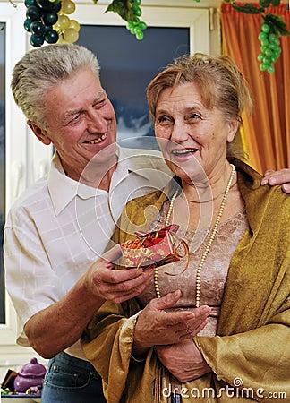 Elderly couple on holiday