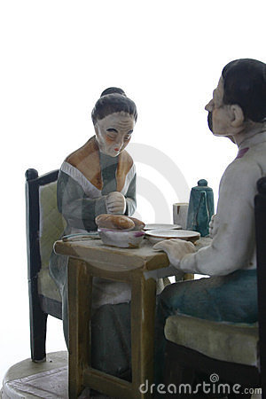 Elderly Couple at Meal