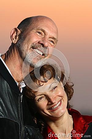 Free Elderly Couple Outdoors Royalty Free Stock Photos - 3977238
