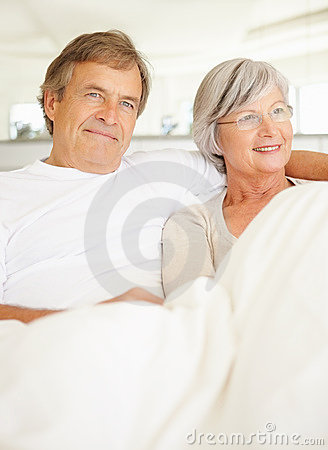 Elderly couple spending time together