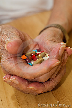Free Elderly Drugs Stock Photography - 5281202