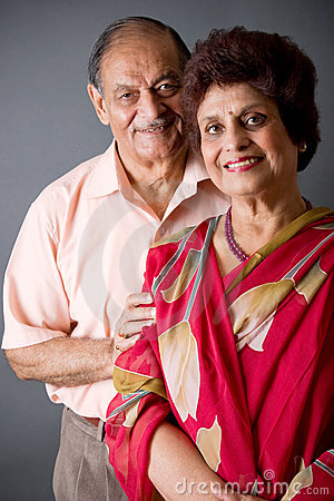 Free Elderly East Indian Couple Royalty Free Stock Image - 6218536