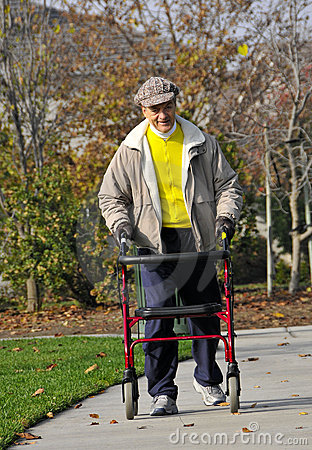 Elderly Friend Exercising in Park 2
