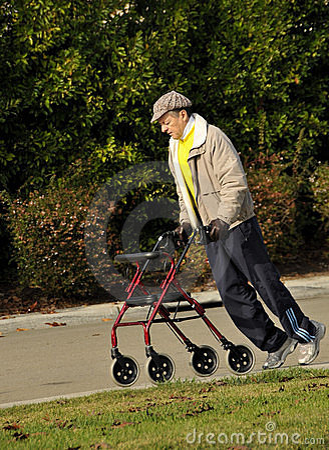 Elderly Gentleman Exercising in Park