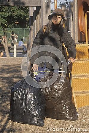 Elderly homeless woman Editorial Image