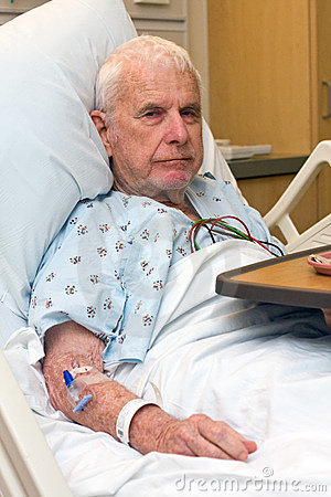 Free Elderly Hospital Patient Finished Dinner Royalty Free Stock Images - 15572079