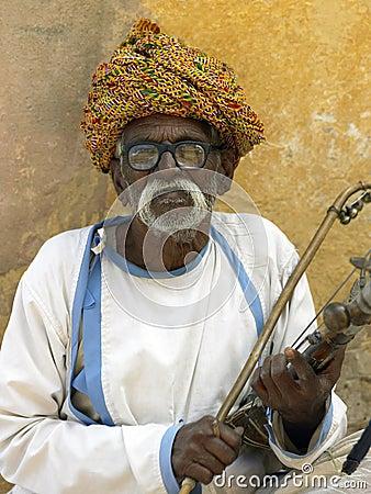 Elderly Indian man - Jaipur - India Editorial Image