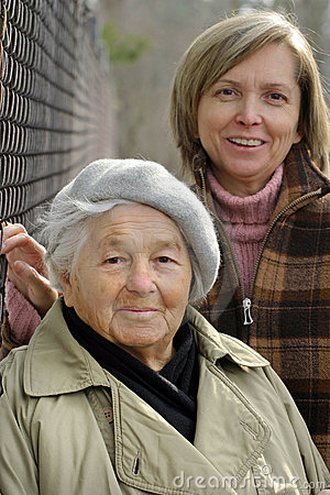Free Elderly Lady And Her Daughter. Stock Photography - 626872