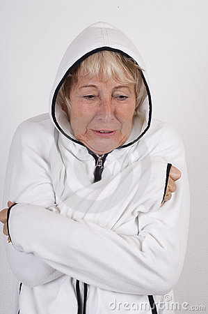 Elderly lady freeze