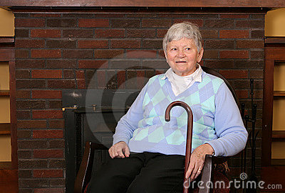 Elderly lady sitting