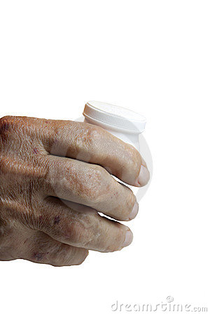 Elderly Male hand with Rheumatoid