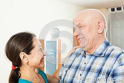 Elderly man with beloved woman