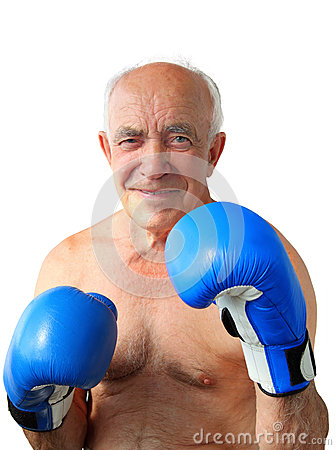 Elderly Man Boxing