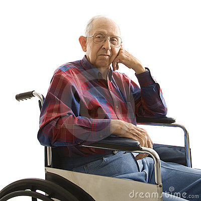 Free Elderly Man In Wheelchair. Stock Images - 2042524