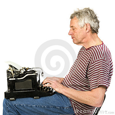 Free Elderly Man Is Writing A Letter Stock Photography - 13566012