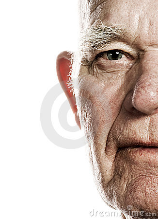 Elderly man s face