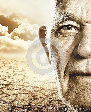 Free Elderly Man S Face Stock Photo - 6701160