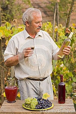 Elderly Man With Wine
