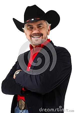Free Elderly Modern Day Cowboy Age 75 Stock Photo - 20647150