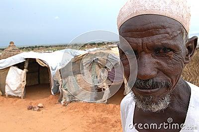 Elderly Muslim Man in Darfur Editorial Image
