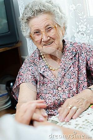Elderly pair of hands