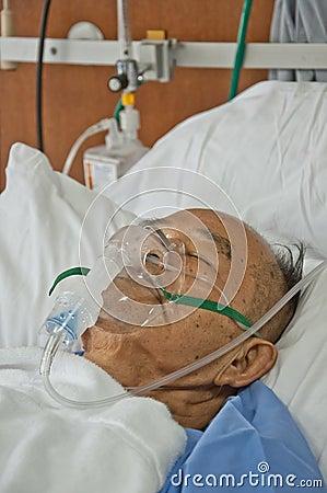 Elderly patien in hospital