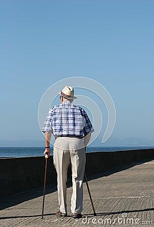 Free Elderly Struggle Royalty Free Stock Images - 1436699