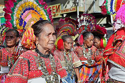 Elderly tribal women Philippines Editorial Photo