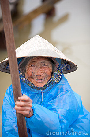 Elderly Vietnamese woman Editorial Stock Image