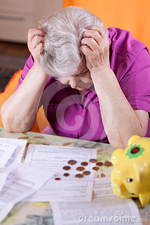 Elderly woman has need of money