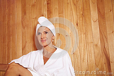 Elderly woman in health resort