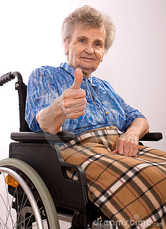 Free Elderly Woman In Wheelchair Royalty Free Stock Image - 5758486
