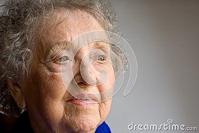 Elderly Senior Woman Royalty Elderly Woman Portrait