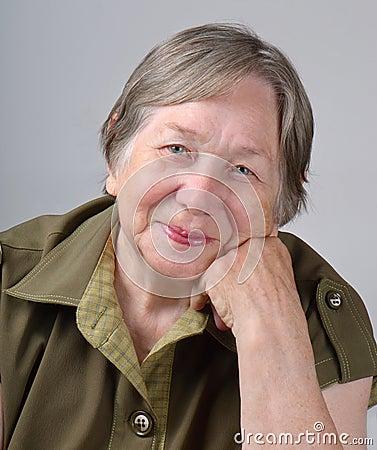Elderly Woman's Portrait Royalty Free Stock Image - Image: 21052696