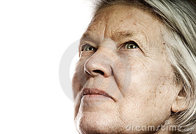 Elderly woman s portrait