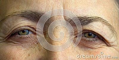 Elderly womans eyes