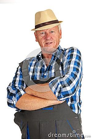 Elderly work man