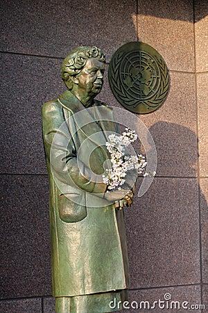Eleanor Roosevelt Sculpture Memorial Washington DC Editorial Image