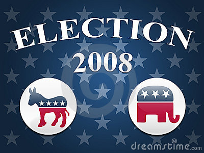 Election 2008 Stars Background Editorial Stock Image