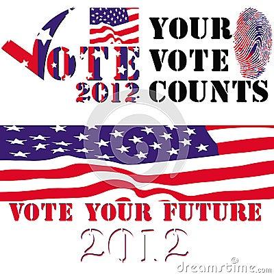 Election 2012 badges