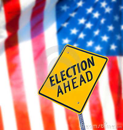 Election Ahead Sign