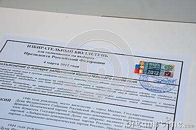 Election ballot Editorial Image
