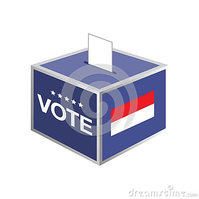 Election ballot box indonesia country Vector Illustration