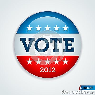 Election campaign button 2012