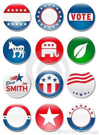 Election campaign buttons Editorial Stock Image